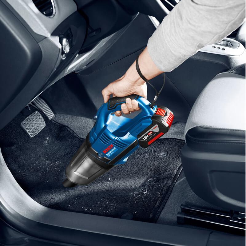 GAS 18V-LI dễ dàng làm sạch bất kỳ vị trí nào, dù là những nơi nhỏ hẹp