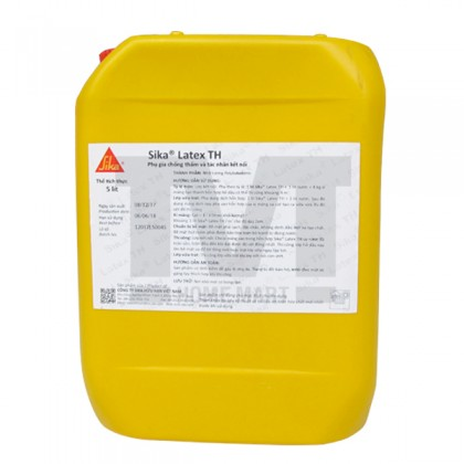 Phụ gia chống thấm Sika Latex TH sử dụng trộn với bê tông trong quá trình xây dựng