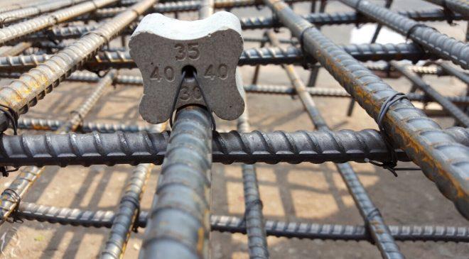 Sử dụng con kê bê tông đảm bảo tính đồng nhất của bê tông